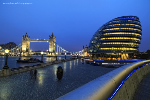 London Tower Bridge and City Hall