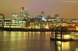 Cold Misty London Town