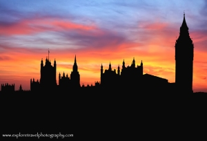 Silhouette of Houses of Parliament